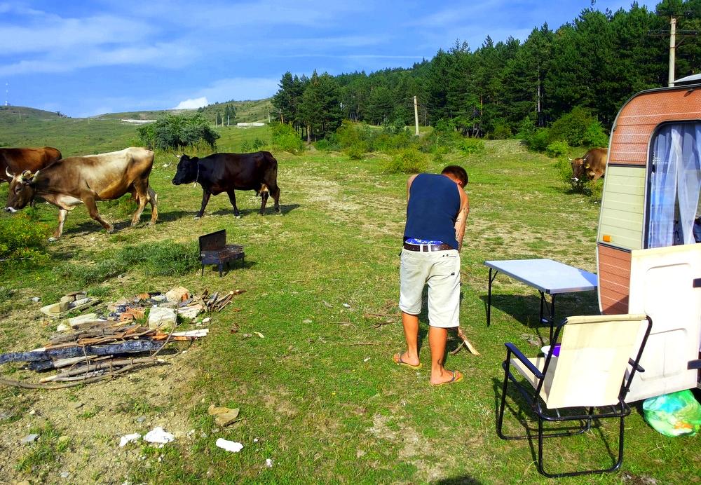 Wilde Stellplätze überall in Rumänien-Camping Rumänien-leben im Camper-Urlaub Rumänien-reisen mit Kind