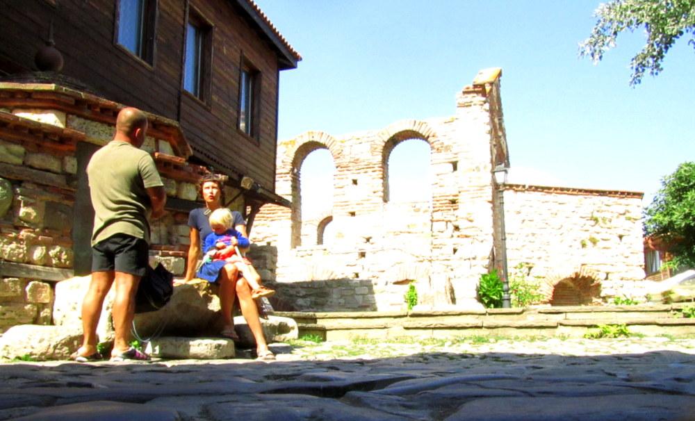 Historische Mauern in Nessebar-Bulgarien- reisen mit Kind