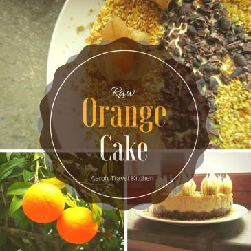 Orangen Cake Mit Buchweizen Crumble Raw Aeroh Travel Kitchen