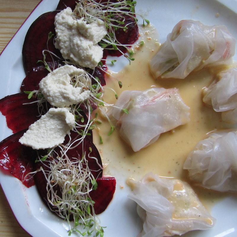 Rote Bete Carpaccio- dumpings-rohkost-rawfood-healthy-gesund