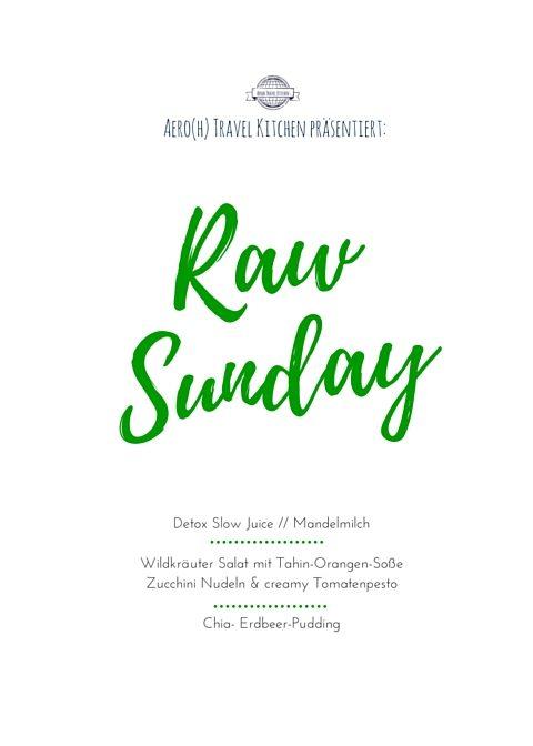 Raw Sunday Deckblatt