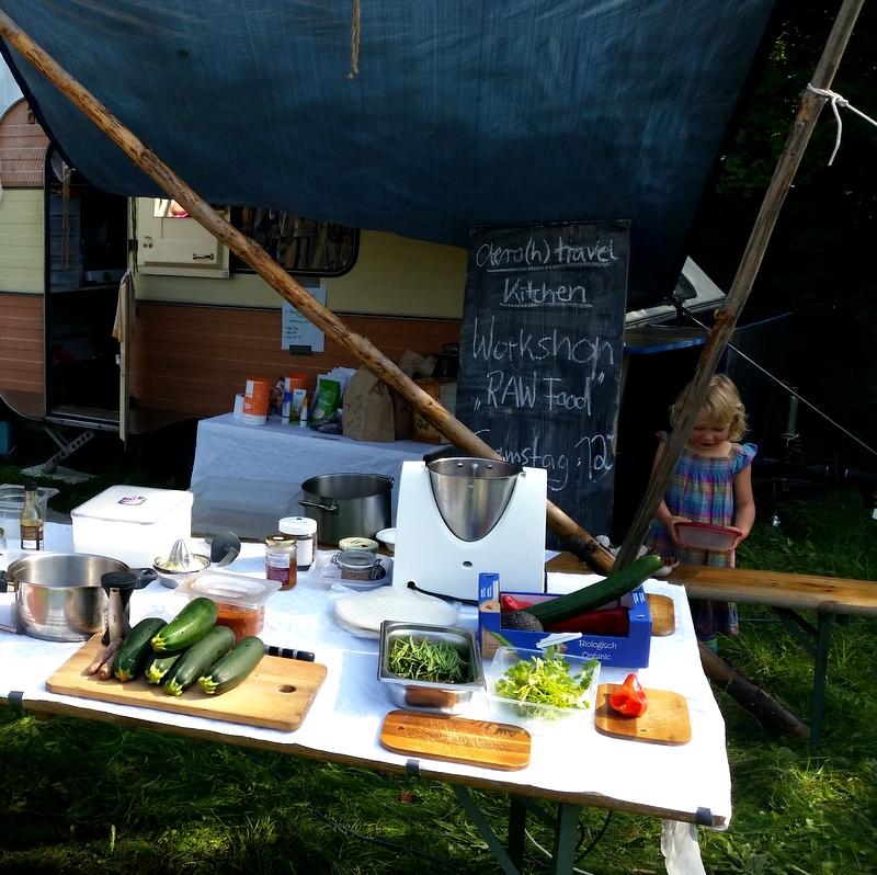Thermomix- Raw Food- Rohkost- Workshop- Schulfrei Festival-Zucchini Nudeln