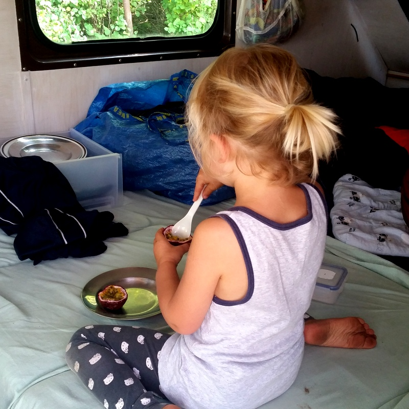 Maracuja- Frühstück- leben im Camper