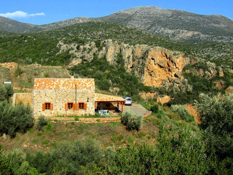 Monemvasia/Griechenland-Blick von der Bergstrasse zu unserem Haus