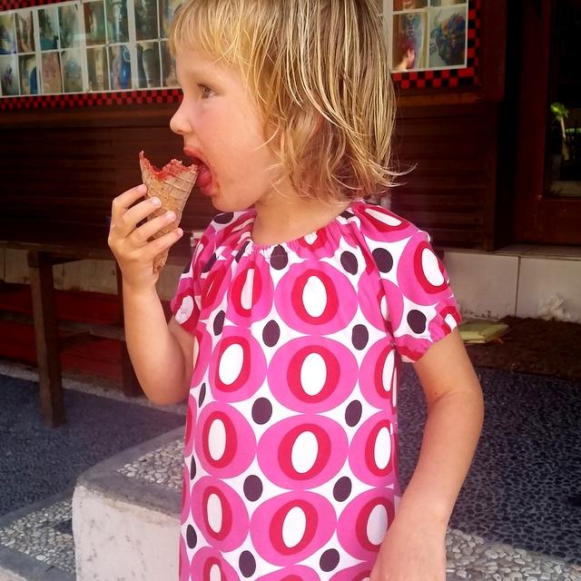 zucker frei Erdbeereis Ubud Bali mit Kind