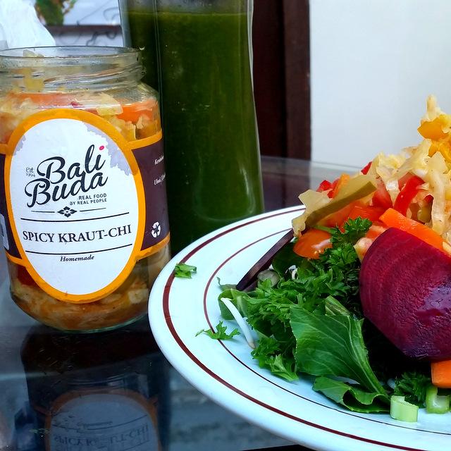 Fermentation Bali Buddah Spicy Sauerkraut Bali Milchsäurebakterien gut für den Darm Probiotics