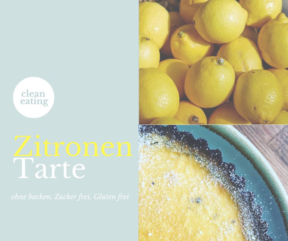 Zitronen Tarte Gluten frei Zucker frei ohne backen Allergie frei